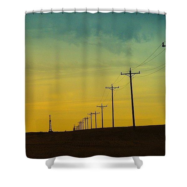 Isolated In North Dakota Shower Curtain