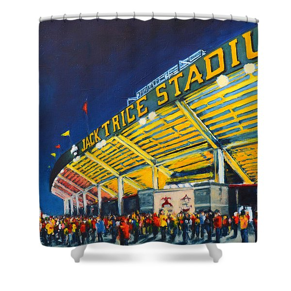 Isu - Jack Trice Stadium Shower Curtain