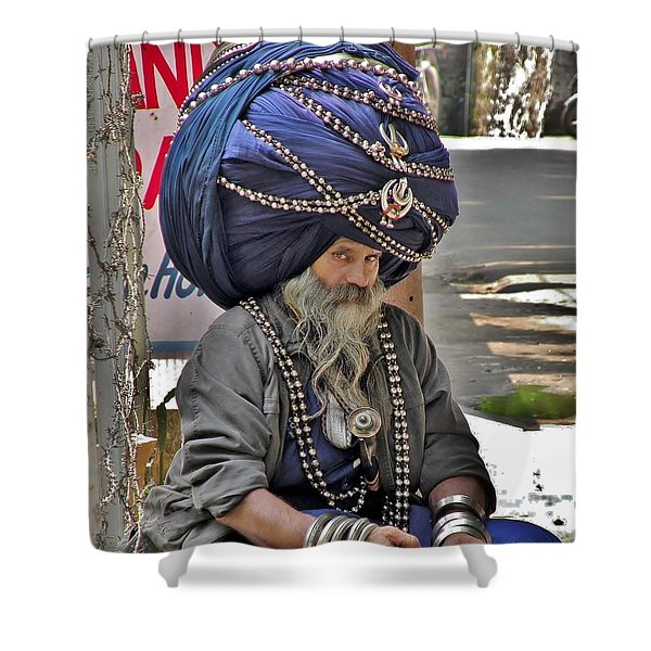 Its All In The Head - Rishikesh India Shower Curtain