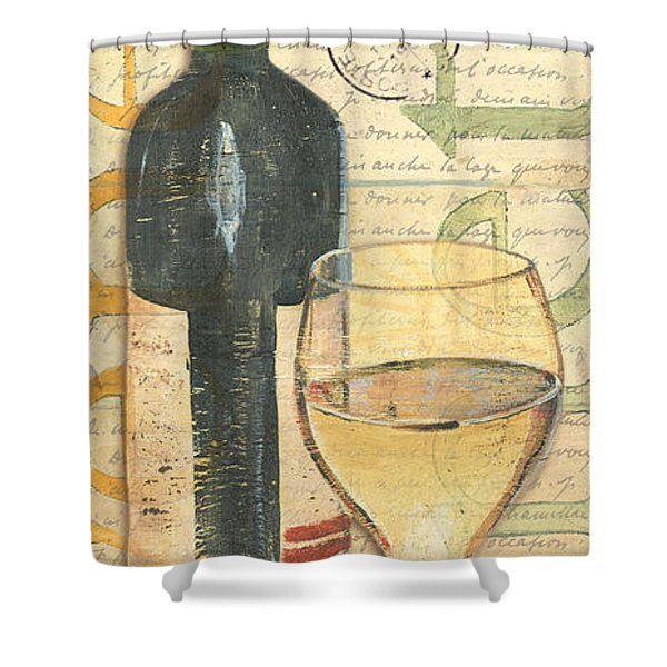 Italian Wine And Grapes 1 Shower Curtain