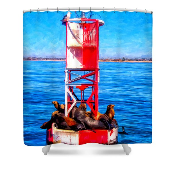 It's Lonely At The Top Shower Curtain