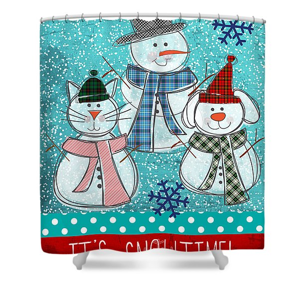 It's Snowtime Shower Curtain
