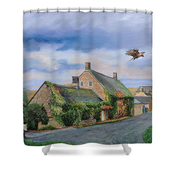 Ivy Cottage Beeley, Chatsworth, Derbyshire, 2009 Oil On Canvas Shower Curtain