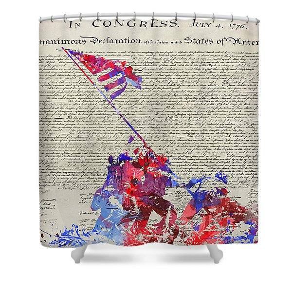 Iwo Jima Declaration Of Freedom Shower Curtain