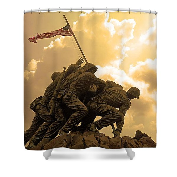 Iwo Jima Memorialized Shower Curtain