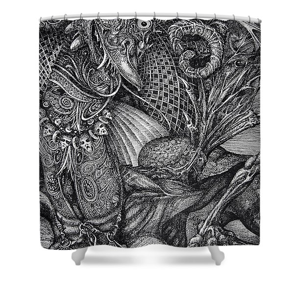 Jabberwocky Shower Curtain