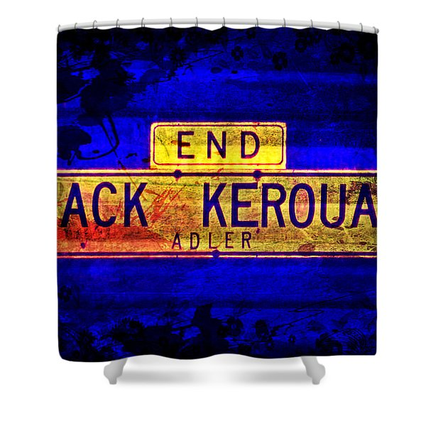 Jack Kerouac Alley Shower Curtain