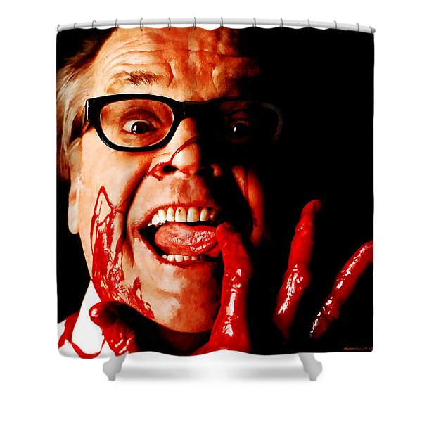 Jack Nicholson Painted From Photo Of Matthew Rolston Shower Curtain