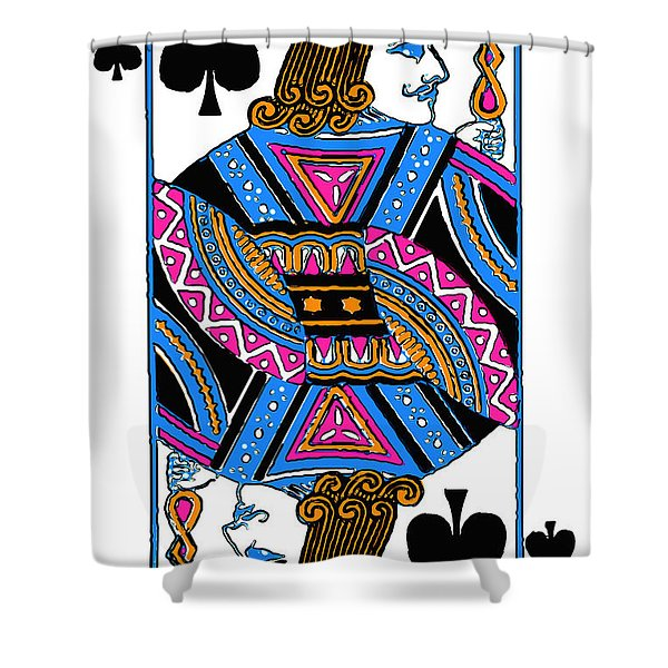 Jack Of Spades - V3 Shower Curtain