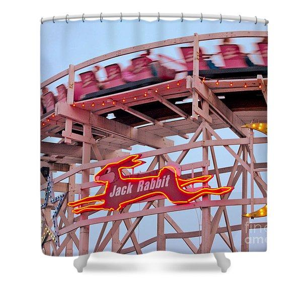 Jack Rabbit Coaster Kennywood Park Shower Curtain