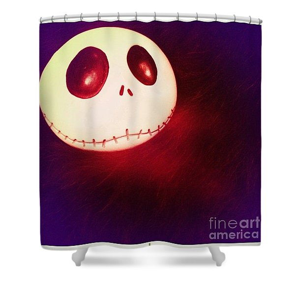Jack Skellington Glowing Shower Curtain