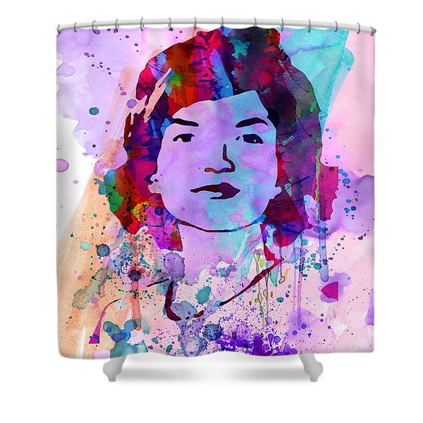 Jackie Kennedy Watercolor Shower Curtain