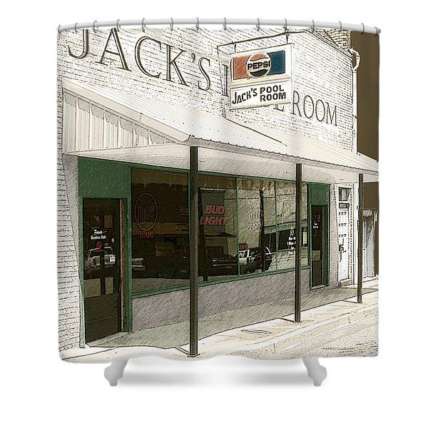 Jack's Pool Room Shower Curtain