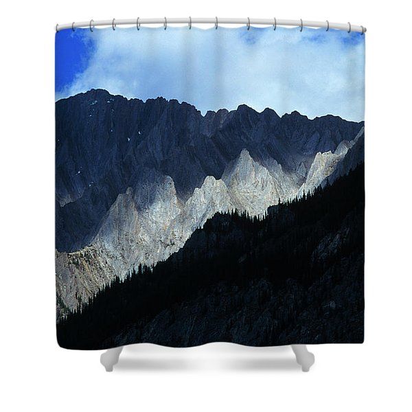 Jagged Mountains Of Banff National Shower Curtain