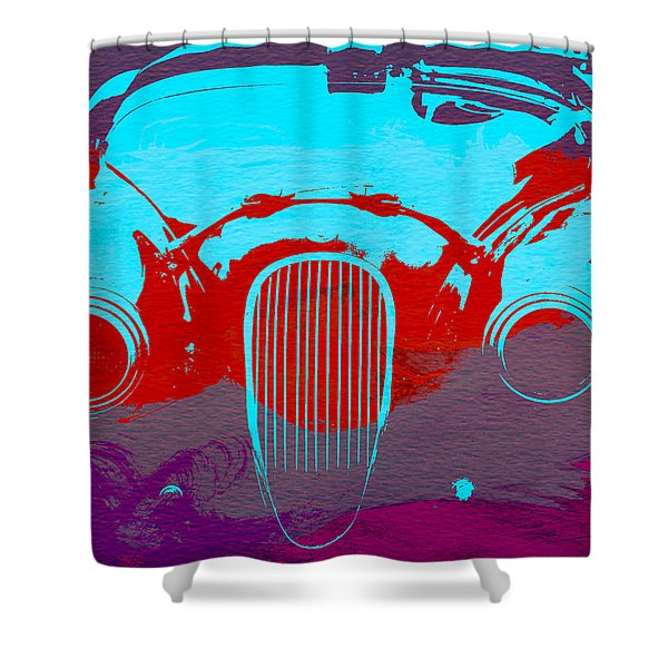 Jaguar Front End Shower Curtain