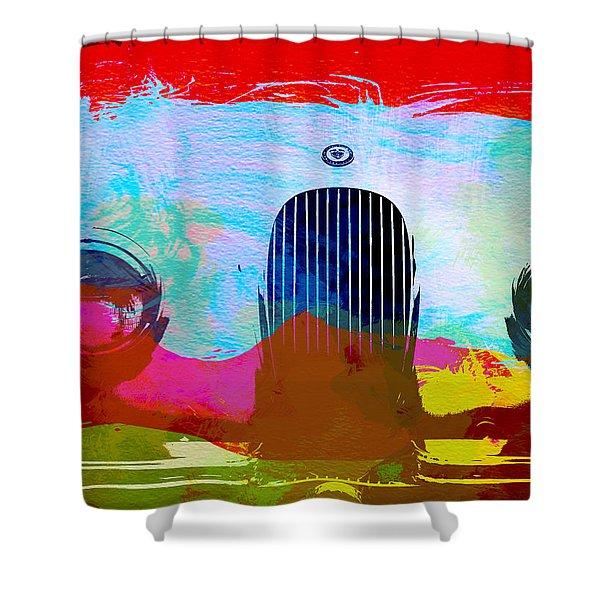 Jaguar Xk Front Shower Curtain