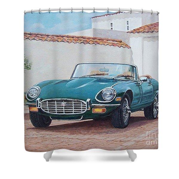 Jaguar Xke 1961-1975 Shower Curtain
