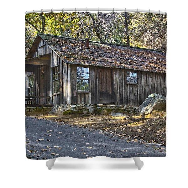 James Marshall Cabin Shower Curtain