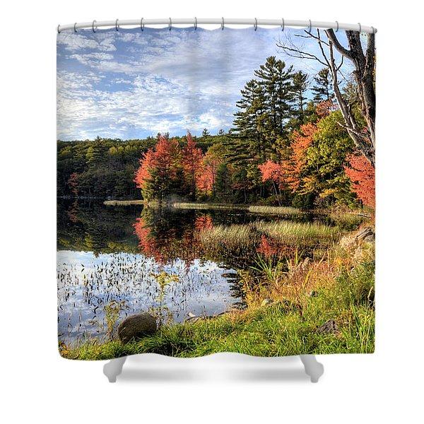 Jamie's Pond Shower Curtain
