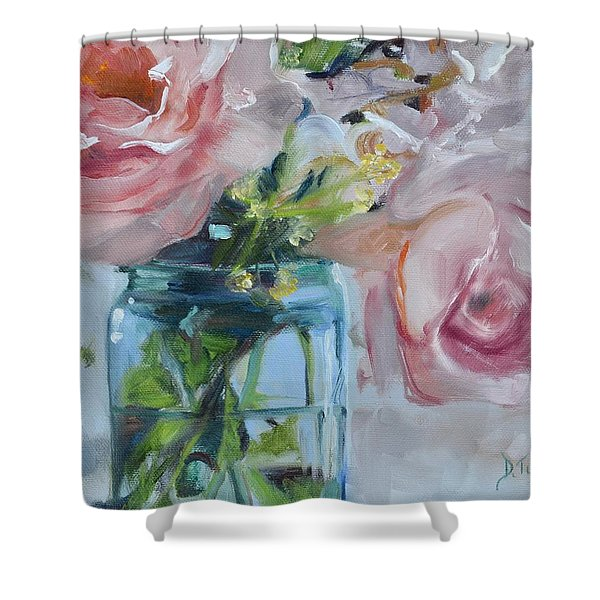 Jar Of Pink Shower Curtain