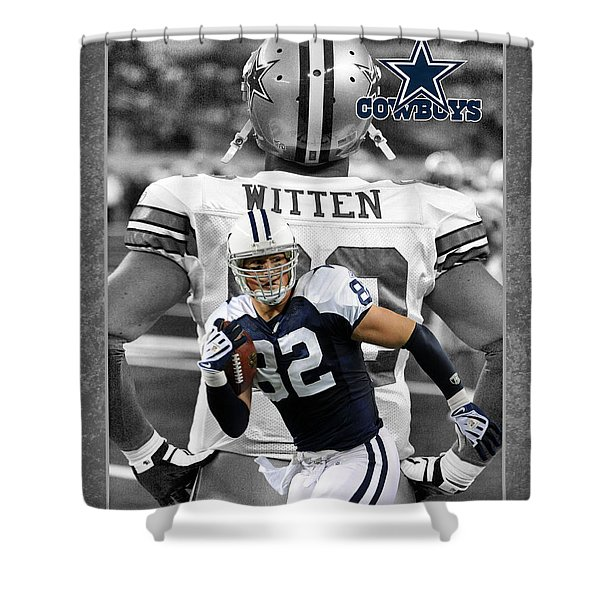 Jason Witten Cowboys Shower Curtain