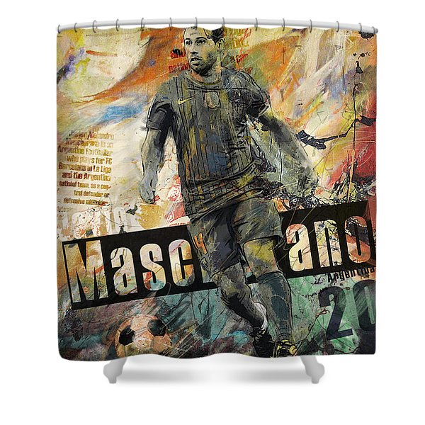 Javier Mascherano - B Shower Curtain