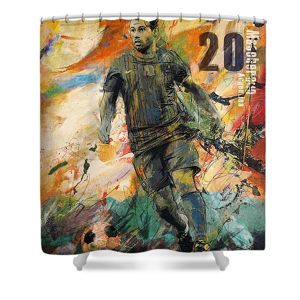 Javier Mascherano Shower Curtain
