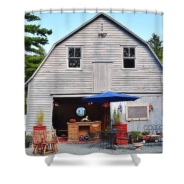 The Old Barn At Jaynes Reliable Antiques And Vintage Shower Curtain