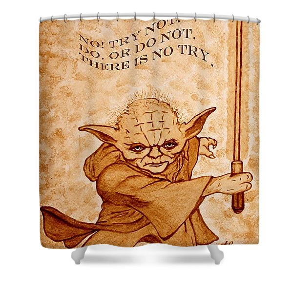 Jedi Yoda Wisdom Shower Curtain