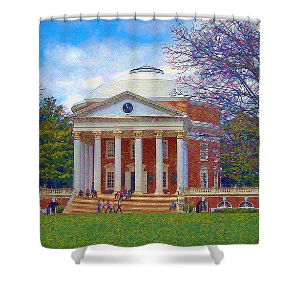 Jefferson's Rotunda At Uva Shower Curtain