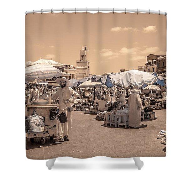 Jemaa El Fna Market In Marrakech Shower Curtain