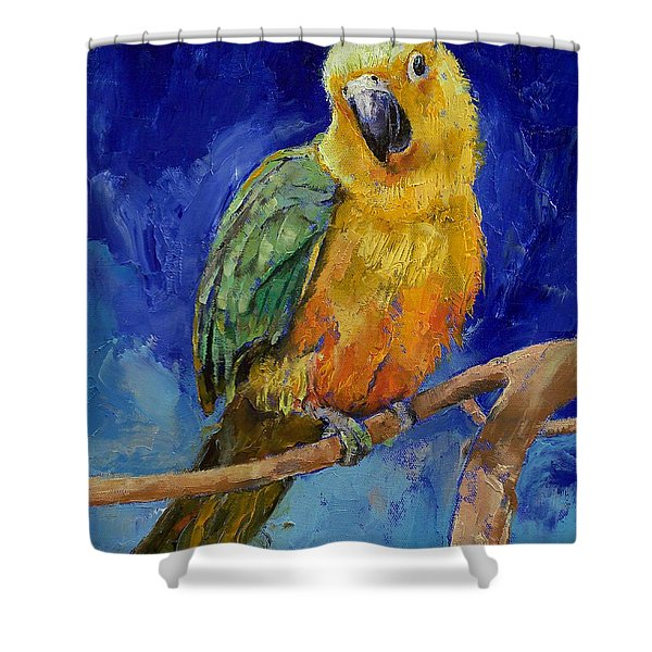 Jenday Conure Shower Curtain