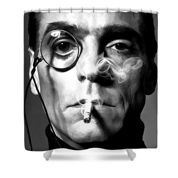 Jeremy Irons Portrait Shower Curtain