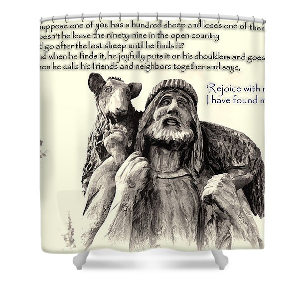 Jesus And Lamb Shower Curtain