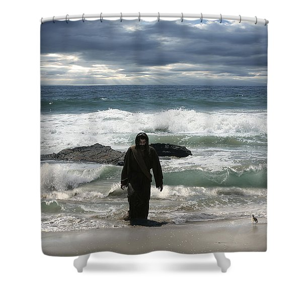 Jesus Christ- Behold I Come Quickly Shower Curtain