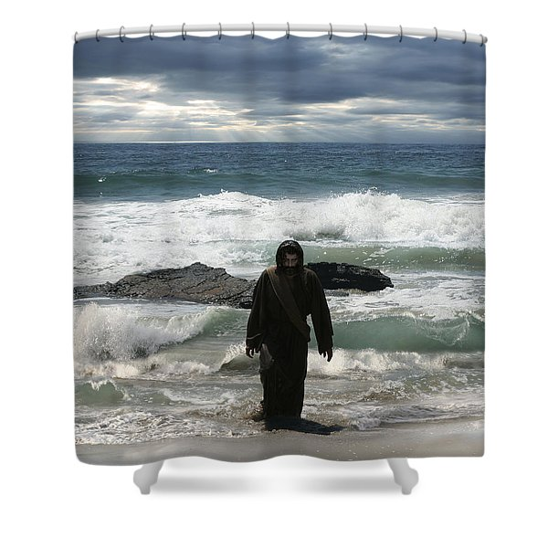 Jesus Christ- Look I Am Coming Soon Shower Curtain