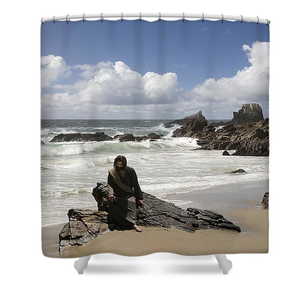 Jesus Christ- Make Time For Me I Miss You Shower Curtain