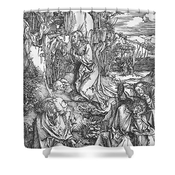 Jesus Christ On The Mount Of Olives Shower Curtain
