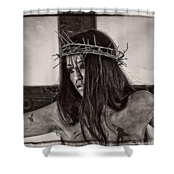 Jesus Christ Portrait Shower Curtain
