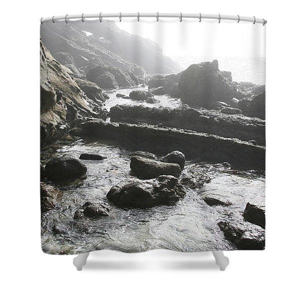 Jesus Christ- Walking With Angels Shower Curtain