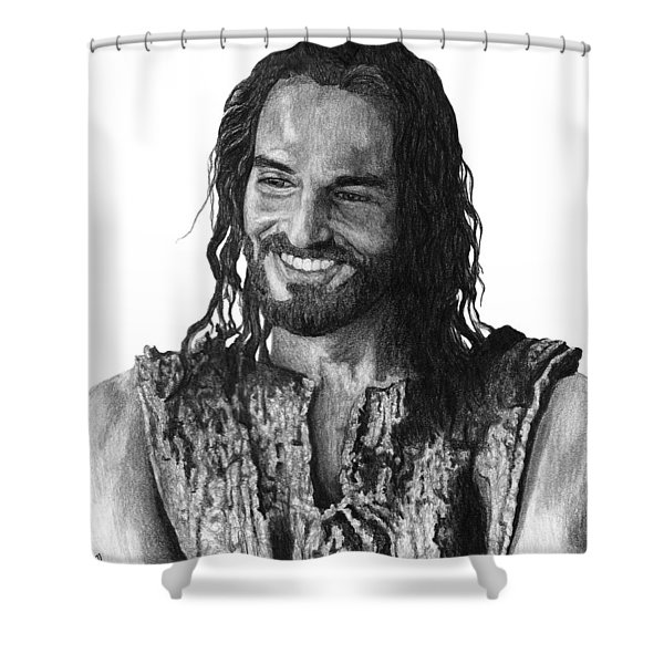 Jesus Smiling Shower Curtain