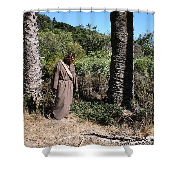 Jesus- Walk With Me Shower Curtain