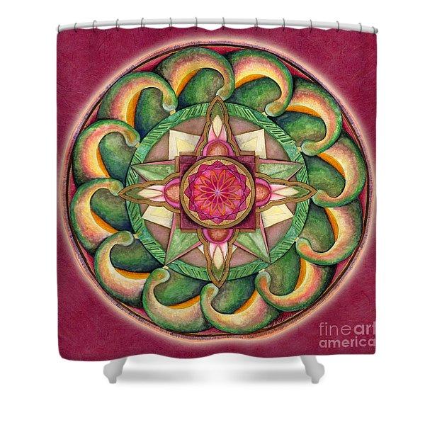 Jewel Of The Heart Mandala Shower Curtain