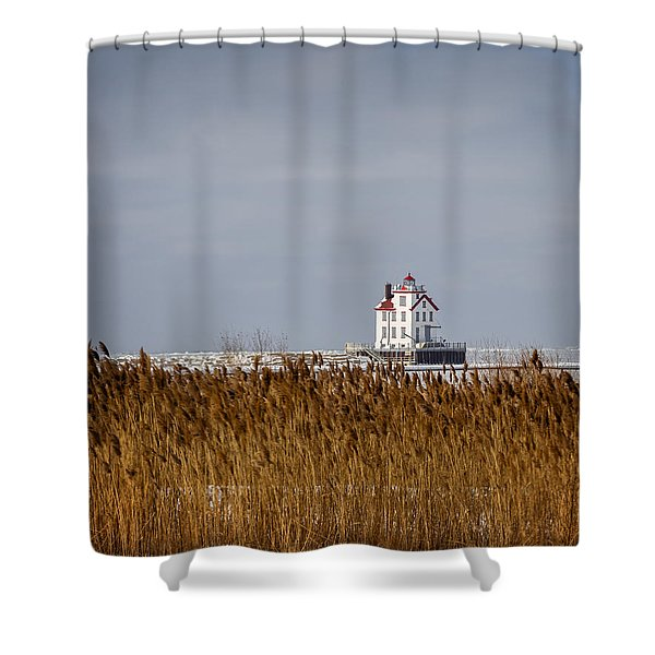 jewel of the Port Lorain Lighthouse Shower Curtain