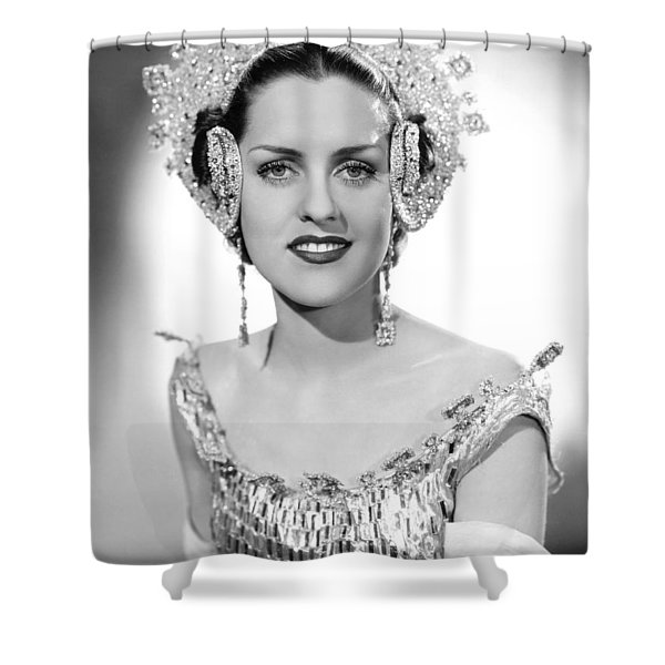 Jewels For A Head Dress Shower Curtain