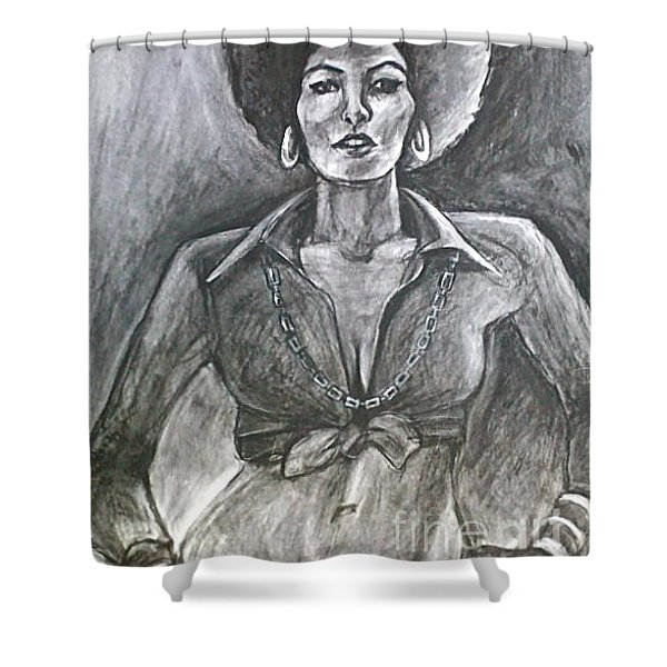 Shower Curtain featuring the drawing Jezebel by Gabrielle Wilson-Sealy
