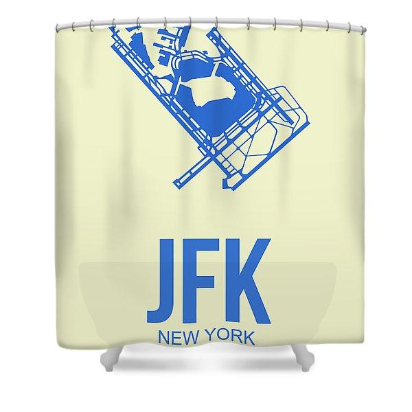 Jfk Airport Poster 3 Shower Curtain
