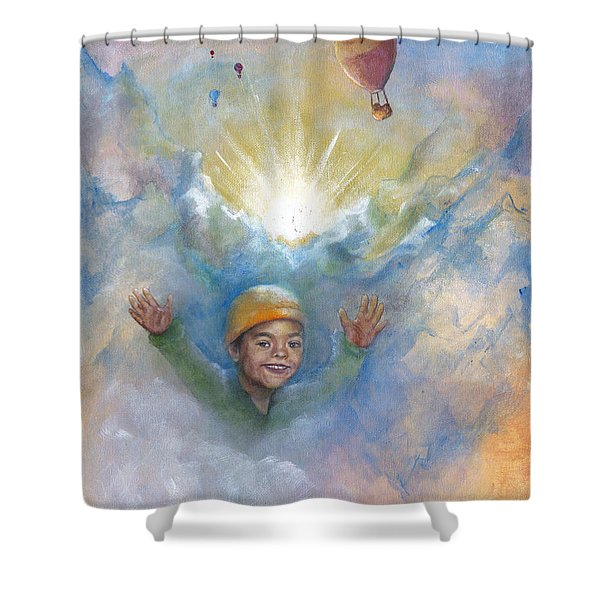 Jhonan And The Hot Air Balloons Shower Curtain