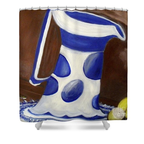 Shower Curtain featuring the painting Fresh Lemonade by Laurie Lundquist