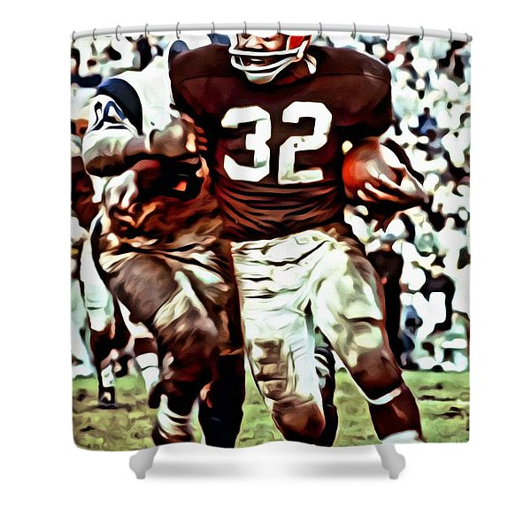 Jim Brown Shower Curtain